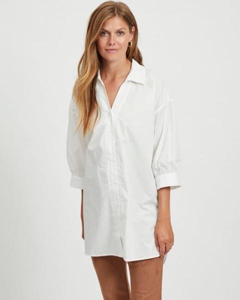 Camisa larga blanca