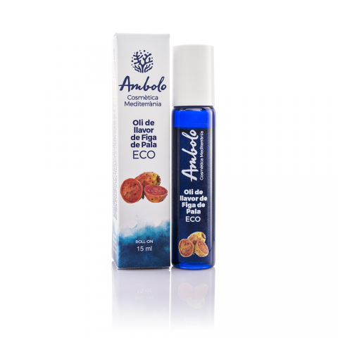 Oli de llavors de figa de pala ecològic roll-on 15 ml. Ajuda a que la pell recobre la seua elasticitat.