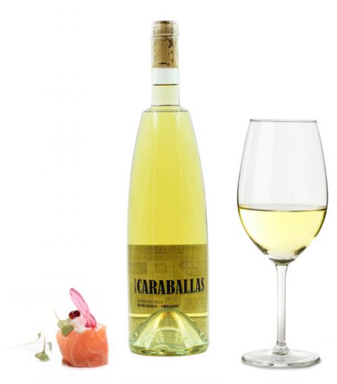 Vino blanco Caraballas Verdejo Ecológico 75cl.