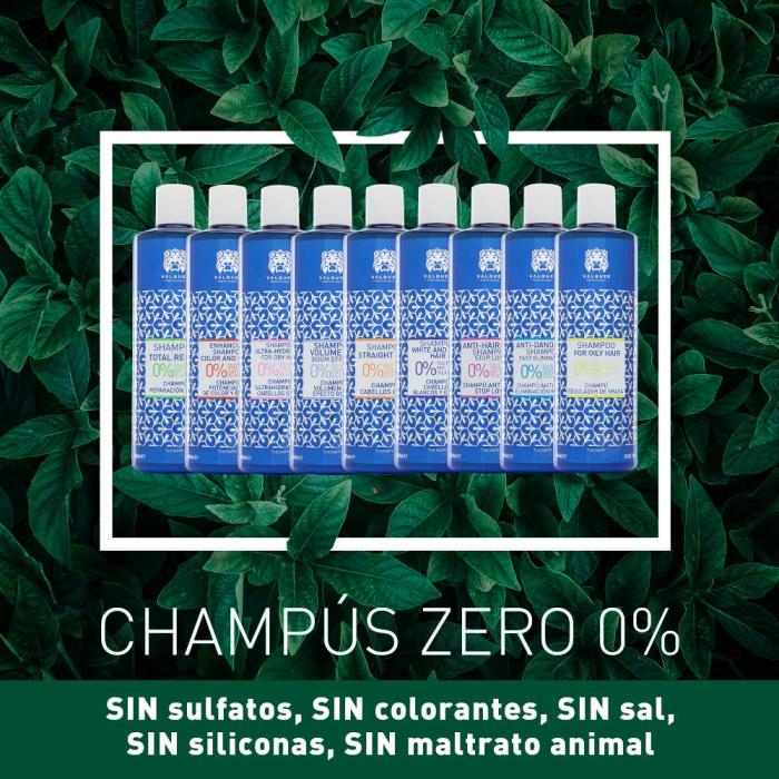 Champú zero % para cabellos blancos y grises - 400 ml. VÁLQUER
