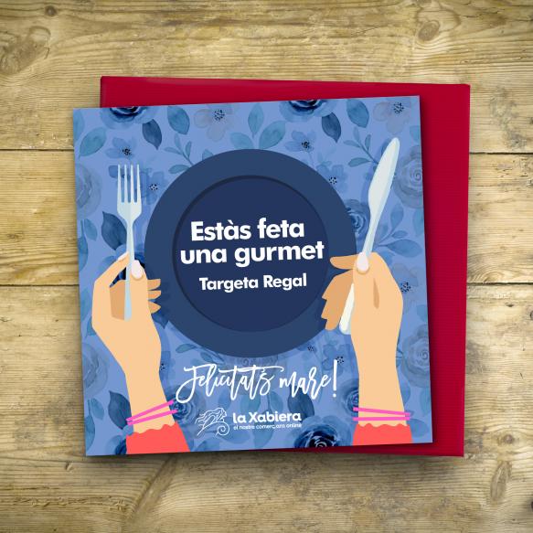 Tarjeta con 10€ de regalo para el Día del Madre - Hostelería, alimentación y bebida - Entrega en 24/48 horas