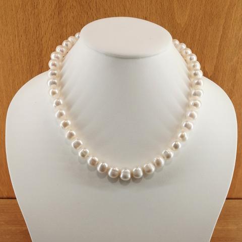 Collar de perlas cultivadas de 9-10mm