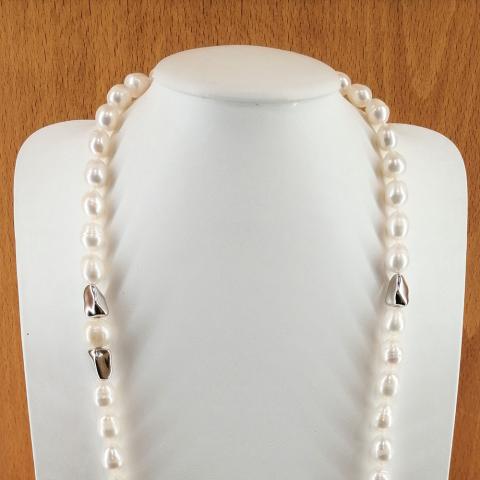 Collar de perlas cultivadas barril de 10-13 mm