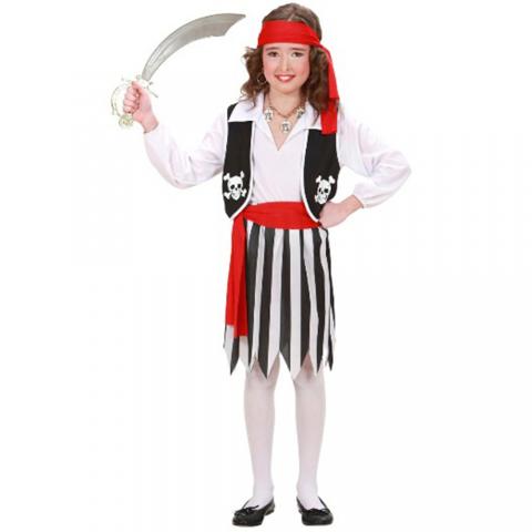 Disfraz de niña de pirata