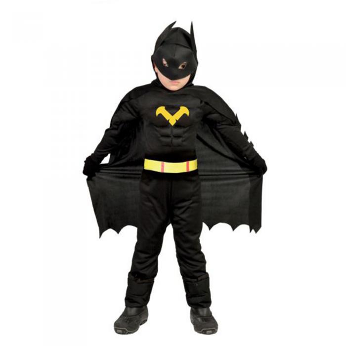 Disfraz de niño de Batman con músculos